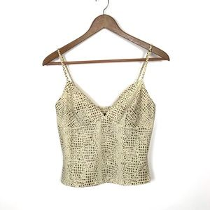 Dina Bar-el Spaghetti Strap Deep V Tank Top Small